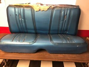 1969 1970 Plymouth Satellite Gtx Roadrunner Back Rear Seat Blue 319