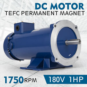 Dc Motor 1 hp 56c Frame 180v 1750rpm Tefc Magnet Smooth Grease Dynamic Newest