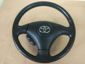 Toyota Corolla Srs Oem Black Leather Steering Wheel Fit Toyota