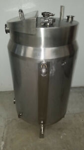 30 Gallon Stainless Steel Jacketed Tank And Lid Tri Clamp Fittings