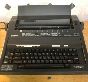Brother Model Ax 24 Electronic Typewriter Word spell With Cover