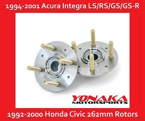 Yonaka 36mm Wheel Hubs Civic Integra 262mm Brake Rotor 43mm Bearing K20 K24 Swap