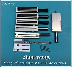 Aamstamp Hot Foil Stamping Machine Accessories Holders 9 Gauge Bar