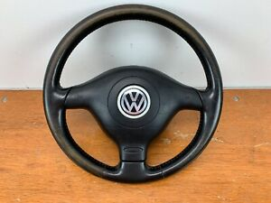 Vw Mk4 Gli Black Leather 3 Spoke Steering Wheel With Airbag Jetta 20th Gti