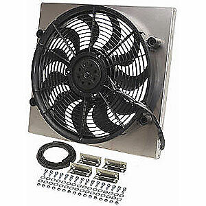 Derale 16818 Dual Speed Electric Puller Fan With Aluminum Shroud