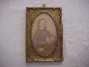 Sweet Newcomb Macklin Style Carved Arts Crafts Gold Picture Frame