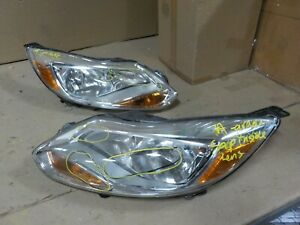 Pair Set Of Oem Ford Focus 2012 2013 2014 Headlight Assembly a grade Sap
