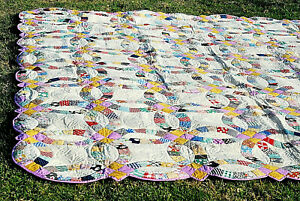 Granny S Quilt Double Wedding Ring 84x96