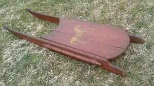 Antique Folk Art Painted Child S Sled With Horse Image 45