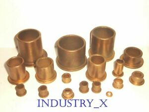 Oilite Bronze Bushing With Flange Pick Your Size Quantity Oil Lite Brass