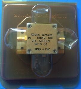 Zfl 500hln Mini circuits Low Current General Purpose Amplifier 10 To 500 Mhz Sma