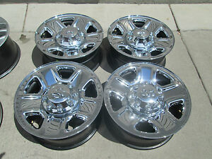 18 Dodge Ram 2500 3500 Factory Wheels Rims Chrome Set 4 With Caps