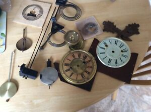 Assorted Clock Parts Mostly Antique And Vintage For Spare And Repair