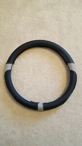 15 Microfiber Leather Car Steering Wheel Cover Auto Universal Fit Black Gray
