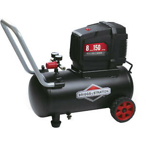 Briggs Stratton 8 Gallon Hotdog Oil free Air Compressor 150 Psi 120 Volt
