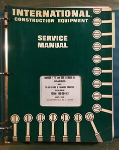 International 175 Loader Td 15 Crawler Service Manual