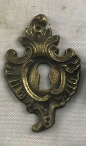 4 Available Antique Victorian Key Hole Cover Escutcheon Hardware Collectible