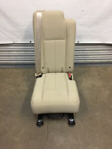 2003 2017 Navigator Ford Expedition Second 2nd Row Middle Jump Seat Tan Cloth