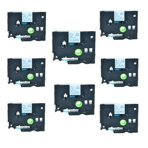 8pk Blue On Clear Tz133 Tze133 12mm Label Tape For Brother P touch Ptd300 0 47