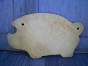 Vintage Pig Cutting Board Butcher Block Wood Pig Cut Out Wall Hanging 17 X 10