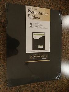 Lot Of 6 Southworth Executive Single Pocket Presentation Folders 9 X 12