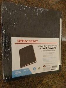 Lot 4 5 pk Office Depot Pressboard Report Covers With Metal Prongs New Letter