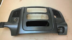 2002 2003 2004 2005 Dodge Ram Dash Trim Radio Climate Bezel Center Vents Black