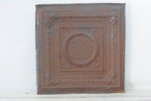 Antique Pressed Tin Ceiling Tile Decorative Metal Ceiling Wall Art Salvage 3