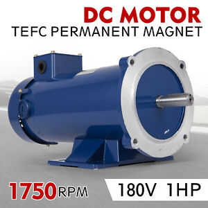 Dc Motor 1 hp 56c Frame 180v 1750rpm Tefc Magnet Removbase Applications Grease