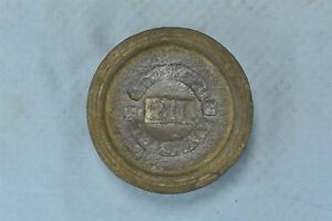 Antique Cast Iron Scale Weight Mercantile Trades Factories Adjusted 2 Lb 06480