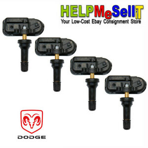 Set Of 4 14 18 Dodge Ram Truck Oem Factory Tire Pressure Monitoring Sensors