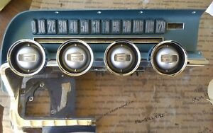 1966 Ford Thunderbird Dash Gouge Cluster Speed Silver Blue