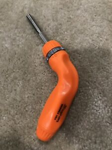 Snap On Tools Pistol Ratching Screwdriver Orange