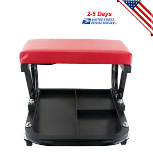 Usa Rolling Creeper Seat Mechanic Stool Chair Repair Tools Tray Shop