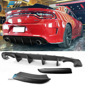 Fits 15 20 Dodge Charger Srt Rear Diffuser Bumper Add On Side Apron Skirt Pp
