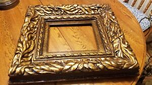 Carved Wood Picture Frame For 8 X 10 Art Bronze Accents Overall 20 X 18