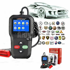 Automotive Obd2 Eobd Car Erase Clear Fault Engine Code Reader Diagnostic Scanner