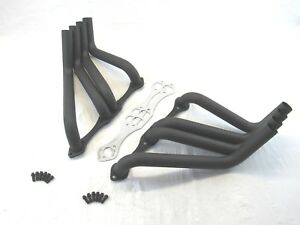 Sb Chevy Boom Tube Header Zoomie Header For Sprints Black Bph 1030