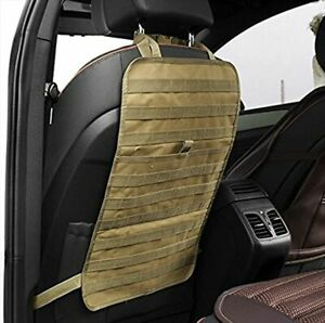 Tactical Molle Car Seat Back Organizer Military Panel Seat Cover Protector Mat
