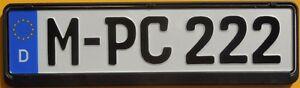 Smaller 18 German Euro License Plate Black Frame Munich Bmw