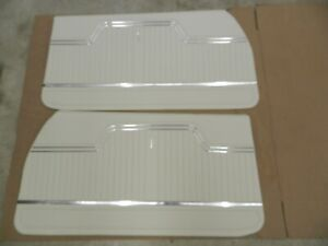 1972 Chevelle Coupe Ss 396 Front Interior Door Panels White in Stock