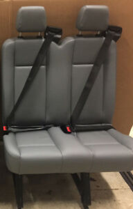 2015 2016 2017 2018 Ford Transit Van 2 Person Bench Seats Gray Vinyl