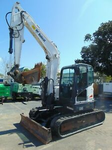 2012 Bobcat E80 midi Excavator Air Conditioned Cab Variable Speed Long Arm