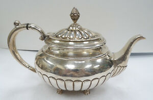 Stunning Hecho En Mexico Sterling 925 Pom Tea Pot A3625