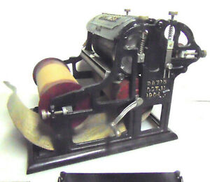 Antique Printing Press Commercial No 6 Model A Automatic Rotary Printer