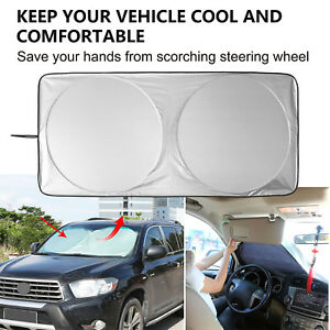 Car Sun Shade Windshield Front Windshield Cover Universal Fit Sunscreen Anti Uv