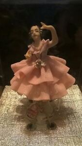 Beautiful Antique Dresden Ballerina Figurine Mint Never Out Of The Box