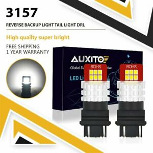 2x 3157 3156 Led Light Bulbs Backup Reverse 2800lumens White 6500k For Ford