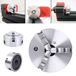 6 Inch 3 Jaw Self centering Lathe Chuck For Milling Cnc Machine Hardened Steel