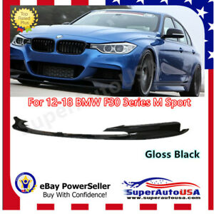 Fits For 12 18 Bmw F30 3 Series M Style Front Bumper Lip Body Kit Gloss Black Pp